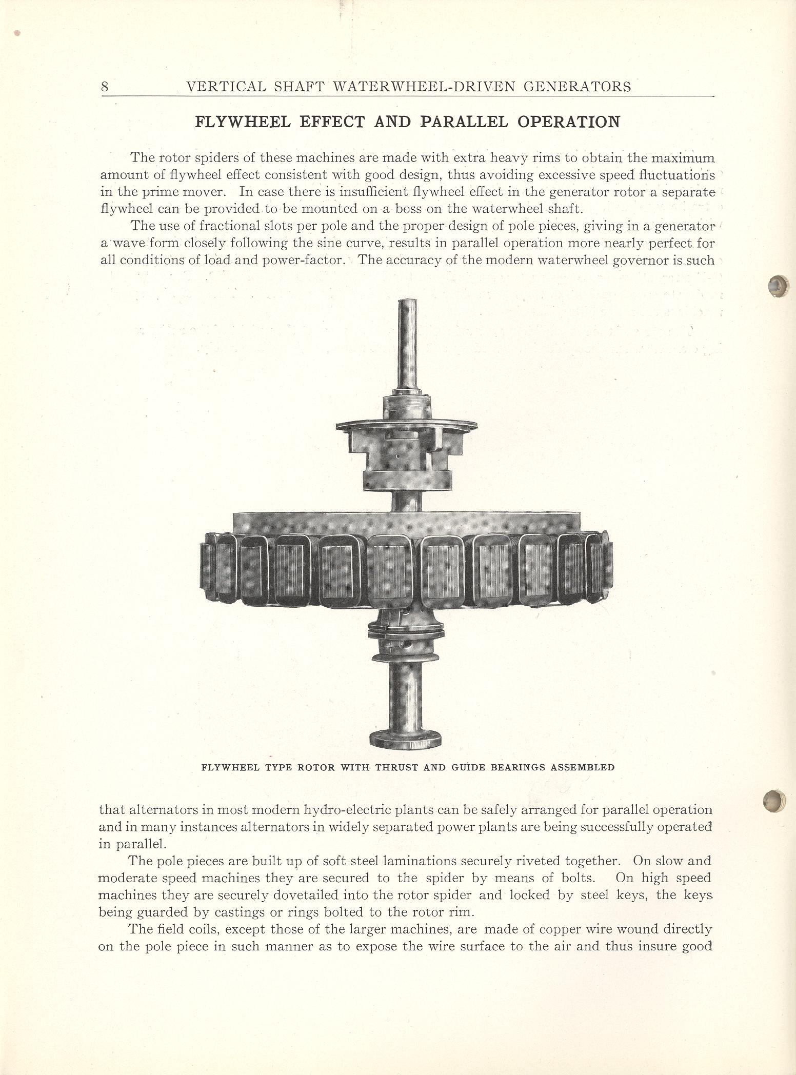 ... Shaft Water Wheel Driven Generators- General Electric Web Page